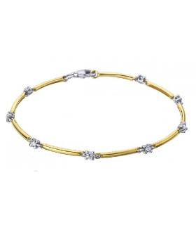 White and yellow gold bracelet with  Diamonds