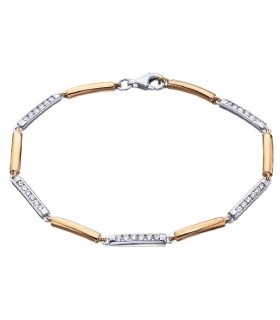 Rose and yellow gold bracelet with  Diamonds