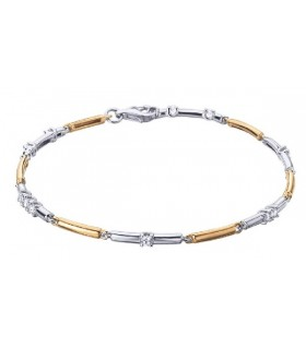 White and rose gold bracelet with  Diamonds