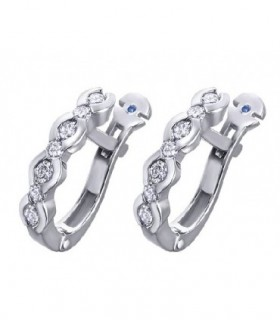 White gold earrings with Sapphire and Diamonds