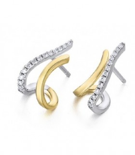 White and yellow gold earrings with Diamonds