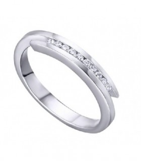 White gold band with Diamonds