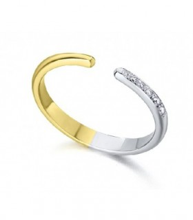 White and Yellow gold ring with Diamonds