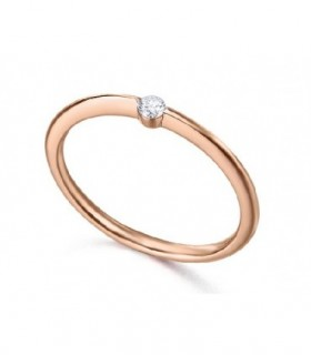 Rose gold ring with a Diamond