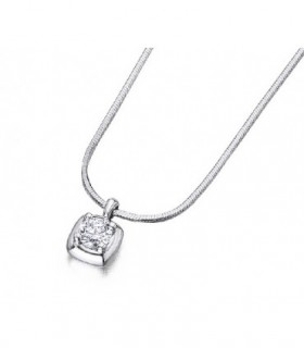 White gold pendant with a Diamond