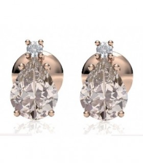 Rose and gold earrings with Morganite and Diamonds