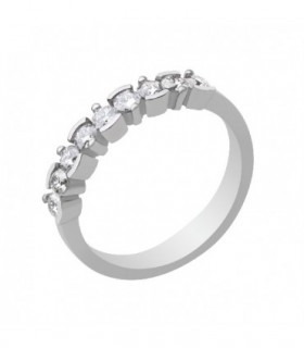 Anillo oro blanco.Dmtes.0,52cts.
