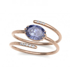 Rose gold ring with Diamonds and Tanzanite