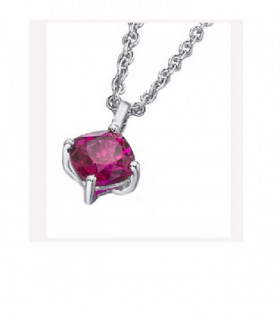 White gold pendant with a Ruby