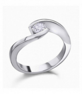White gold ring with diamonds 0.42cts